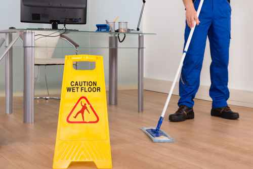 Wet Floor Sign In Office